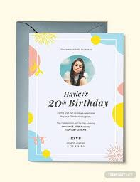 554 birthday invitations word psd