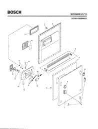 bosch dishwasher installation.  Dishwasher 02Door Assembly Parts For Bosch Dishwasher SHV6803 UC12 FD 8105  Inside Installation 0