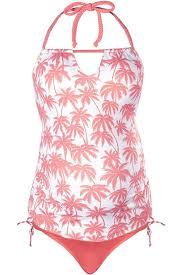 Cache Coeur Bounty Maternity Tankini Pink Palm Maternity