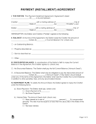 By this contract, {payer} agrees to make payments to {payee}, hereafter known as lender, by the following schedule in exchange for {product/services rendered}. Free Payment Agreement Template Pdf Word Eforms