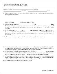 lease contract template free commercial lease agreement organization to organization