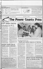 The Power County Press November 13, 1996: Page 1