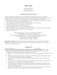 Logistics Resume Summary Examples Downloadable Free Sample Resume For Logistics Logistics Resume 6