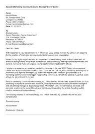 Sample Public Relations Cover Letter Sarahepps Com