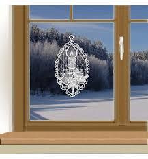 Klassisches Fensterbild Kerze Weihnachts Fensterdeko Aus Echter Plauener Spitze Weiß