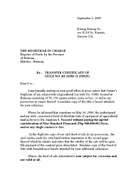 Atty Buban Letter To Register Of Deeds