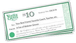Gift Certificates Webster Groves Mo Official Website
