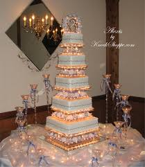 beautiful ideas lighted wedding cake stands 2