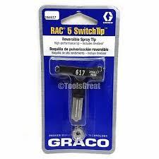 Graco Spray Tip Chart Graco Rac 5 286617 Switch Tip Paint Spray Tip Size 617 633955914506 Ebay