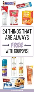 24 things that are always free with 6 things that are super couponing for beginnerscouponing 101extreme