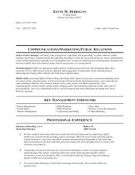 Public Relations Resume Kevins Resume Hc Media Relations Update I