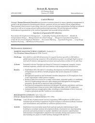 Sample Human Resource Resumes Human Resource Executive Resume Sample
