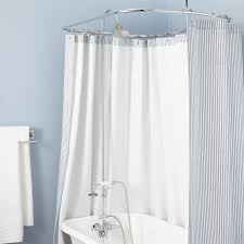 shower curtain clawfoot tub solution. clawfoot tub solid brass shower conversion kit with hand curtain solution