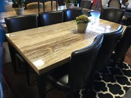 travertine dining table w8 leather chairs 41 5