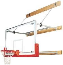 the bison competitor stationary wall mounted basketball hoop features a nba regulation size 42 x 72 unbreakable glass competition backboard and a choice