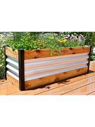 corrugated metal raised garden beds. Corrugated Metal And Wood Raised Bed Garden Beds   Gardeners.com R