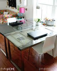 diy desks from vine doors