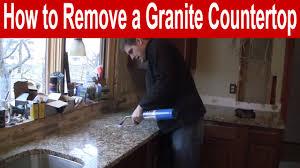 how to remove a granite countertop
