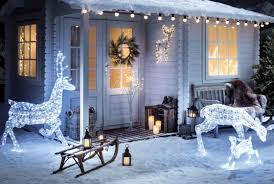 christmas house lighting ideas. christmas cabin scene house lighting ideas