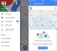 how to share your live location in google maps with friends