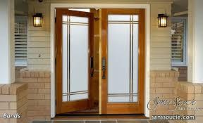 glass doors etched glass designs sleek lines angular modern design sans soucie bands