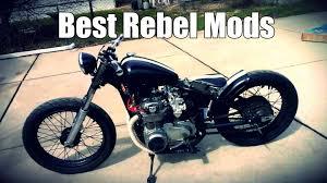 top 5 mods for the honda rebel 250 youtube