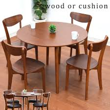 dining table 5 walnut round table coro 360 chair completed dining table set 5pcs dining