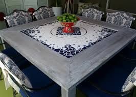 Outdoor Tile Table Top Tiled Dining Table