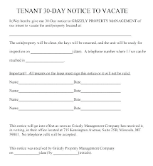 Day Notice Letter To Ask Tenants Quit Sample Tenant Landlord