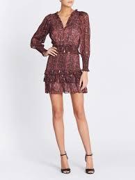 rebecca taylorsnake print smocked clip dress