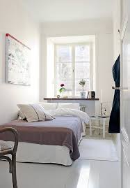 Bedroom, Narrow Bedroom Design For Couple With White Interior Color Decor  Inspiring Ideas Plus Ceramic