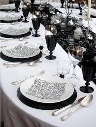elegant table settings. 58 Elegant Black And White Wedding Table Settings | HappyWedd.com