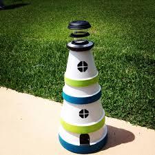 Diy Clay Pot Lighthouse With Solar Light Team Lali Diys