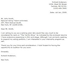 Acting Cover Letter - CV Resume Ideas