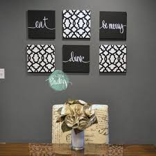 black white eat drink be merry wall art 6 pack canvas wall intended for current on black and white wall art sets with image gallery of black and white wall art sets view 2 of 20 photos