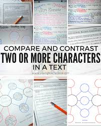 Venn Diagram Character Comparison Compare And Contrast Two Or More Characters In A Story Freebies