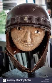 vintage leather motorcycle helmet
