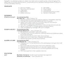 Housekeeping Resume Examples Awesome Executive Housekeeper Resumes Housekeeping Resume Examples Entry
