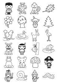 Disegno Da Colorare Icone Per Bambini Piccoli Cat 21103 Images