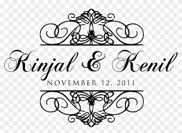 Flourish Clipart Wedding Reception Wedding Name Design Png