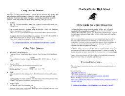 Chatfield Citation Guide