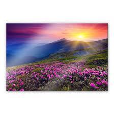 Acrylglasbild Sonnenuntergang In Den Bergen Schöne Deko Für