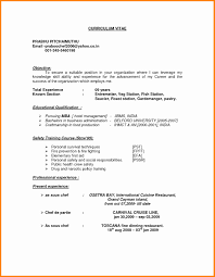 Outstanding Resume Objective Pastry Chef Gallery Documentation