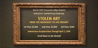 david a garfinkel essay scholarship stolen art stolen art