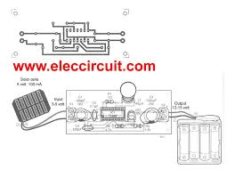 make solar aa battery charger circuit by tl497 eleccircuit pcb of make solar aa battery charger by