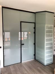 a glass door in an aluminum frame the ultimate combination of design and functionality