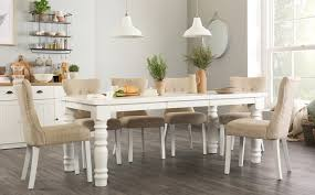 hampshire white extending dining table with 4 bewley oatmeal chairs only 699 99