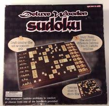 Wooden Sudoku Game Board deluxe wooden sudoku eBay 100