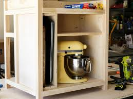 attach the middle and top shelves