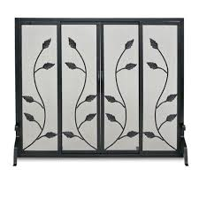 Unique fireplace screens Doors Efireplacestorecom Black Flat Garden Vine Fireplace Screen With Sliding Doors